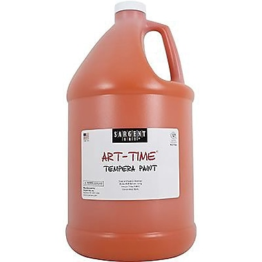 Sargent Art Art-Time Non-toxic 128 oz. Liquid Tempera Paint, Orange (SAR226614)