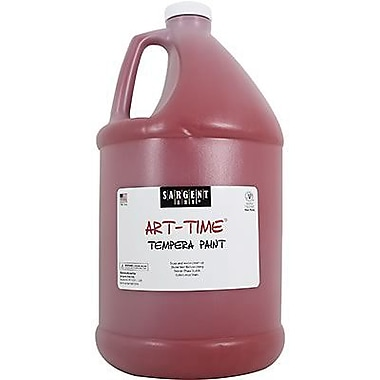 Sargent Art Art-Time Non-toxic 128 oz. Liquid Tempera Paint, Red (SAR226620)