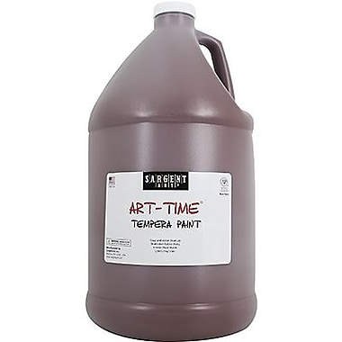 Sargent Art Art-Time Non-toxic 128 oz. Liquid Tempera Paint, Brown (SAR226688)