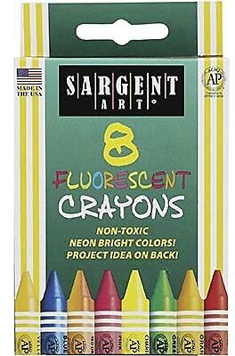Sargent Art Fluorescents Crayon 8 Box
