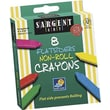 Sargent Art® Flatsiders No-Roll Crayon, 8/Box