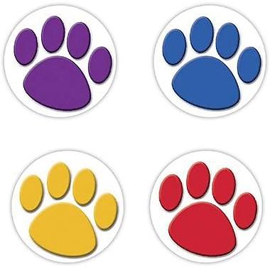 Teacher Created Resources® Colorful Paw Prints Wear 'Em Badges