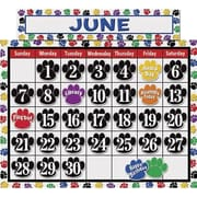 Teacher Created Resources® Calendar Bulletin Board Display Set, Colorful Paw Prints