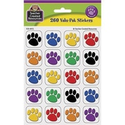 Teacher Created Resources® Stickers, Colorful Paw Prints, 260/Pack