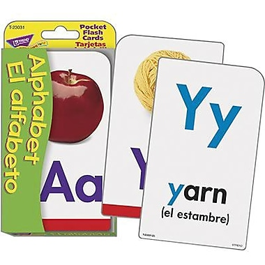 Trend Enterprises® Pocket Flash Card, Alphabet