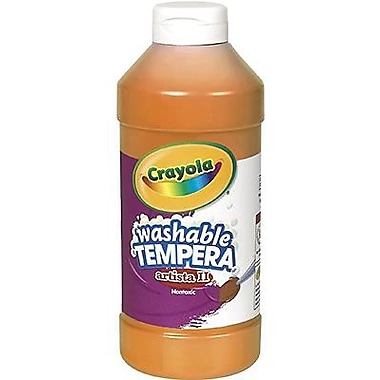 Crayola Artista ll Non-toxic 16 oz. Tempera Paint, Orange (BIN311536)