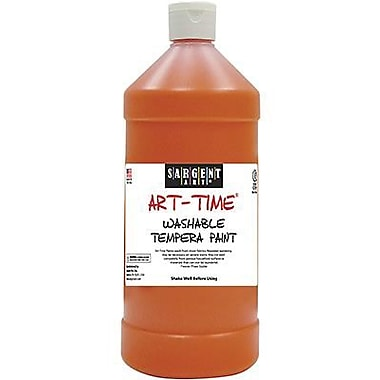 Sargent Art Art-Time Non-toxic 16 oz. Washable Tempera Paint, Red (SAR223420)