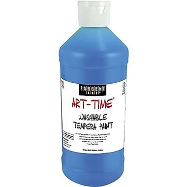 Sargent Art Art-Time Non-toxic 16 oz. Washable Tempera Paint, Blue (SAR223450)