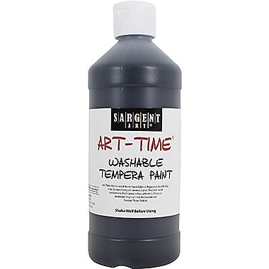 Sargent Art Art-Time Non-toxic 16 oz. Washable Tempera Paint, Black (SAR223485)
