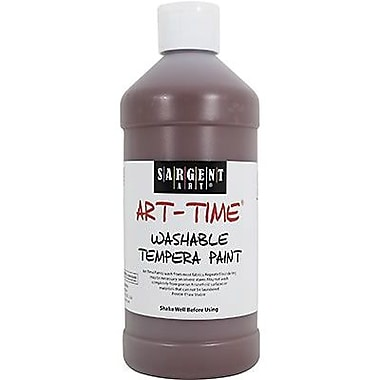 Sargent Art® Art-Time® 16 oz. Washable Tempera Paint, Brown