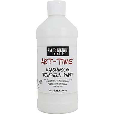 Sargent Art Art-Time Non-toxic 16 oz. Washable Tempera Paint, White (SAR223496)