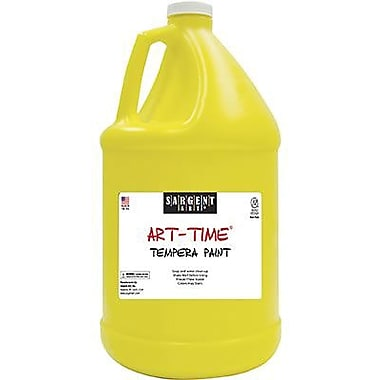 Sargent Art Art-Time Non-toxic 128 oz. Washable Tempera Paint, Yellow (SAR223602)