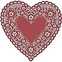 Hygloss® Heart Paper Lace Doilies, 4, Red