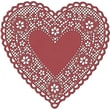 "Hygloss® Heart Paper Lace Doilies, 4"", Red"