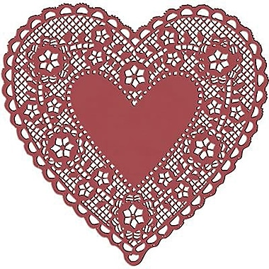 Hygloss® Heart Paper Lace Doilies, 4in., Red
