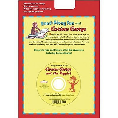 Houghton Mifflin® Harcourt Curious George and The Puppies Carry Along Book and CD Set, Grades P-5th