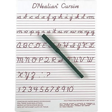 Ashley® D'Nealian® Write-On/ Wipe-Off Board, 9