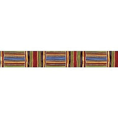 TREND T-85092 35.75' x 2.75in. Straight Patterns Kente Cloth Bolder Border, Multicolor
