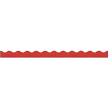Teacher's Friend® pre-kindergarten - 8th Grades Scalloped Bulletin Board Trim, Red Graphic Pattern