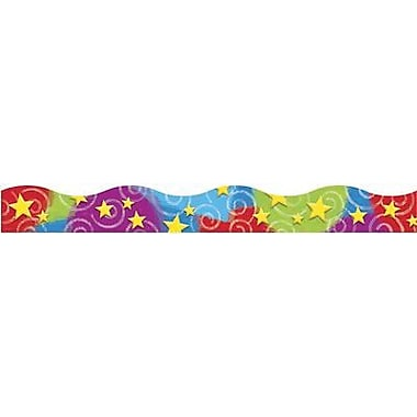 Trend Enterprises® pre-kindergarten-9th Grades Scalloped Terrific Trimmer, Colorful Stars n' Swirls