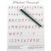 "Ashley® D'Nealian® Manuscript Write-On/ Wipe-Off Board, 9"" x 12"""