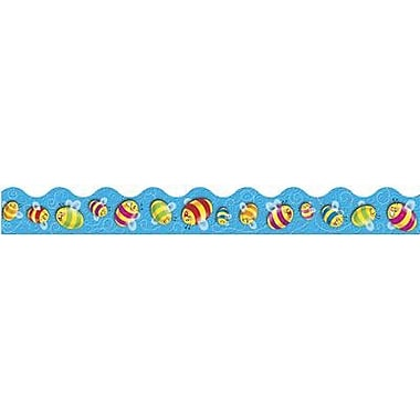 Trend Enterprises® pre-kindergarten - 9th Grades Scalloped Terrific Trimmer, Colorful Bees
