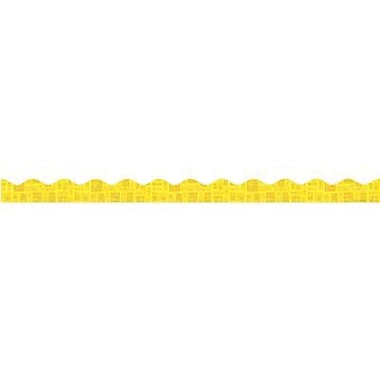 Teacher's Friend® Pre-kindergarten - 8th Grades Scalloped Trimmer, Yellow Graphic Pattern