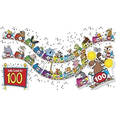 Teacher's Friend® Bulletin Board Set, 1 To 100 Roller Coaster