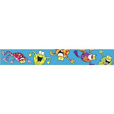 Trend Enterprises® pre-kindergarten - 9th Grades Bulletin Board Border, Colorful Frog - Tastic