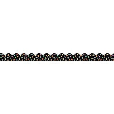 Creative Teaching Press™ preschool - 12th Grades Scalloped Bulletin Board Border, Dots On Black