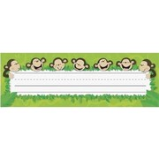 Creative Teaching Press™ Infant - 6th Grades Name Plate, Monkey Business