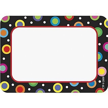 Creative Teaching Press™ Infant - 12th Grades Name Tag, Dots On Black