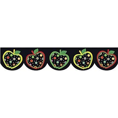 Creative Teaching Press™ pre-school-12th Grades Scalloped Bulletin Board Border, Dots On Black Apples