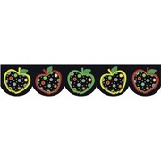 "Creative Teaching Press 6515 35' x 2.75"" Scalloped Dots on Black Apples Border, Multicolor"