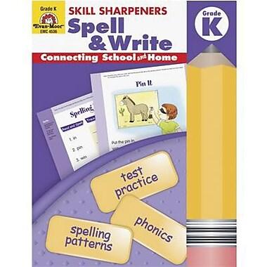 Evan-Moor® Skill Sharpeners Spell and Write Book, Grades Kindergarten
