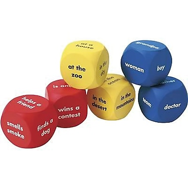Learning Resources® Soft Foam Story Starter Word Cubes, Grades 1st - 7th