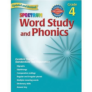 Spectrum Word Study and Phonics Work Book, Grades 4th