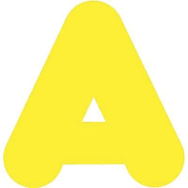 Trend Enterprises® Casual Ready Uppercase Letter, 2in., Yellow