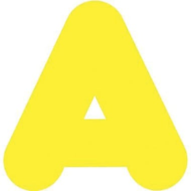 Trend Enterprises® Casual Ready Letter, 4in., Yellow