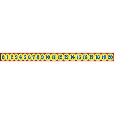 Trend Enterprises® pre-kindergarten - 3rd Grades Bulletin Board Border, Awesome Numbers 0-20