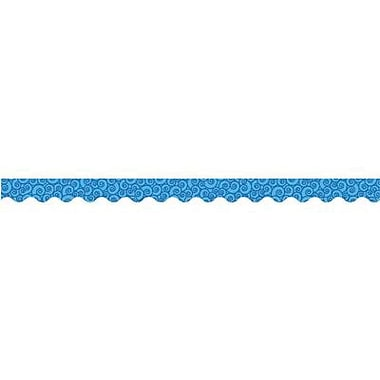 Teacher Created Resources® pre-school-12th Grades Scalloped Bulletin Board Border Trim, Blue Swirls