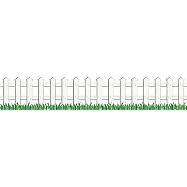 Teacher's Friend® pre-kindergarten - 3rd Grades Accents Punch-Out Border, White Picket Fence