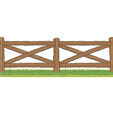 Teacher's Friend® Pre-kindergarten - 3rd Grades Accents Punch-Out Border, Wild West Fence
