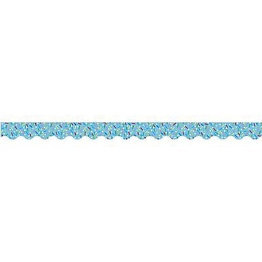Creative Teaching Press™ preschool - 12th Grades Scalloped Bulletin Board Border, Blue Sprinkles