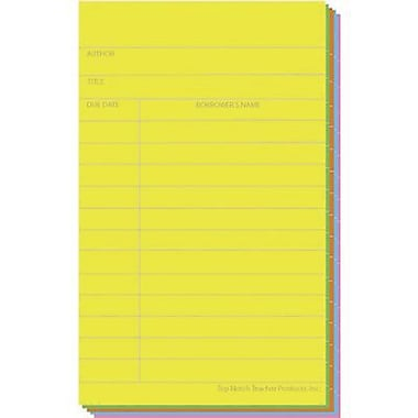 Top Notch Teacher Products® 5in. x 3in. Index Card, Brite Assorted