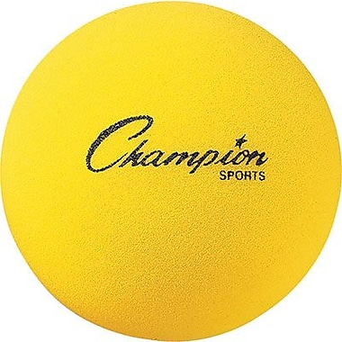 Champion Sports® Foam Ball, 8 1/2in.(Dia), Yellow