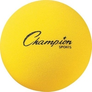 "Champion Sports® Foam Ball, 8 1/2""(Dia), Yellow"