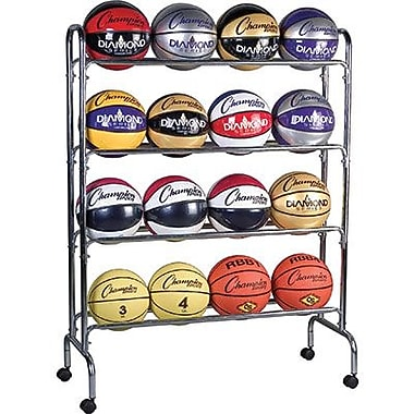 Champion Sports® Ball Cart, 4 Tier