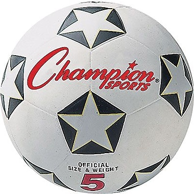 Champion Sports® Soccer Ball Set, Black and White, Size 5