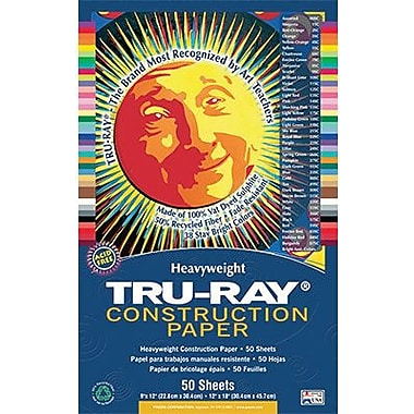 Pacon® Tru-Ray® Sulphite Construction Paper, Burgundy, 12in.(W) x 18in.(L), 50 Sheets